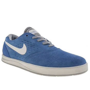 mens nike skateboarding blue eric koston 2 trainers