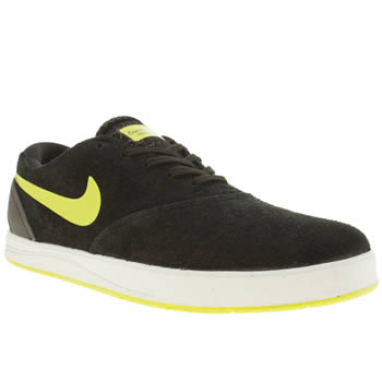 mens nike skateboarding black eric koston 2 trainers