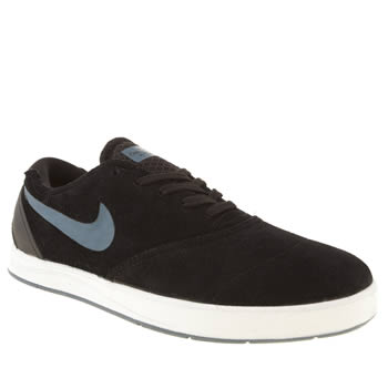 mens nike skateboarding black & grey eric koston 2 trainers