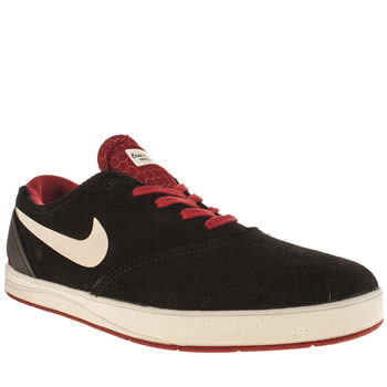 mens nike skateboarding black & white eric koston 2 trainers