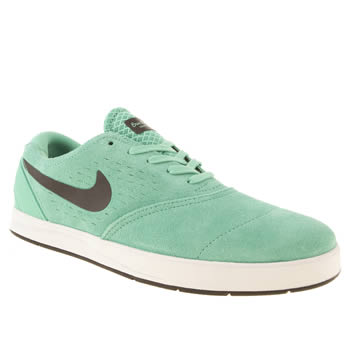 mens nike skateboarding light green eric koston 2 trainers