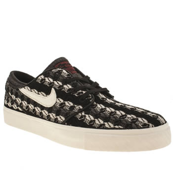 Nike Skateboarding Black & White Stefan Janoski Warmth Trainers
