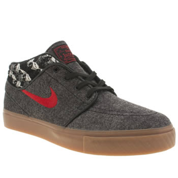 Mens Nike Skateboarding Grey & Black Stefan Janoski Mid Warmth Trainers