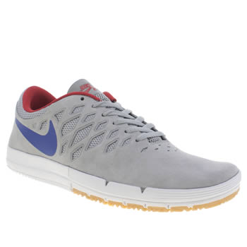 Mens Nike Skateboarding Light Grey Free Sb Trainers