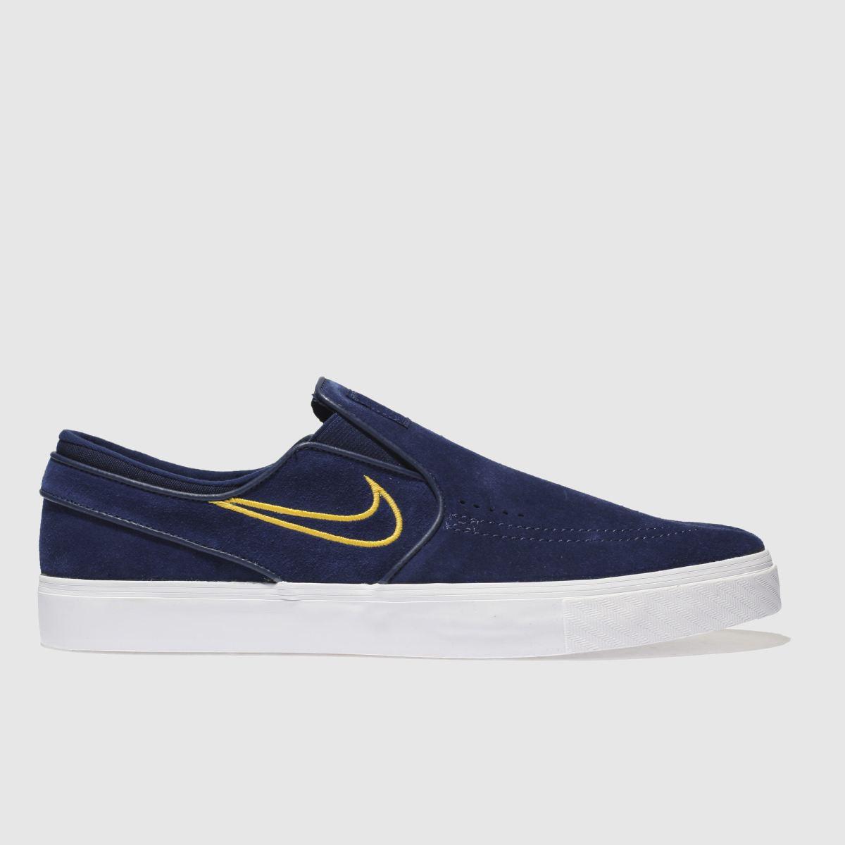 Nike Sb Navy Zoom Janoski Slip Trainers