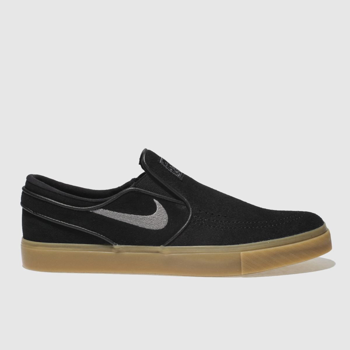 Nike Sb Black & Grey Zoom Janoski Slip Trainers