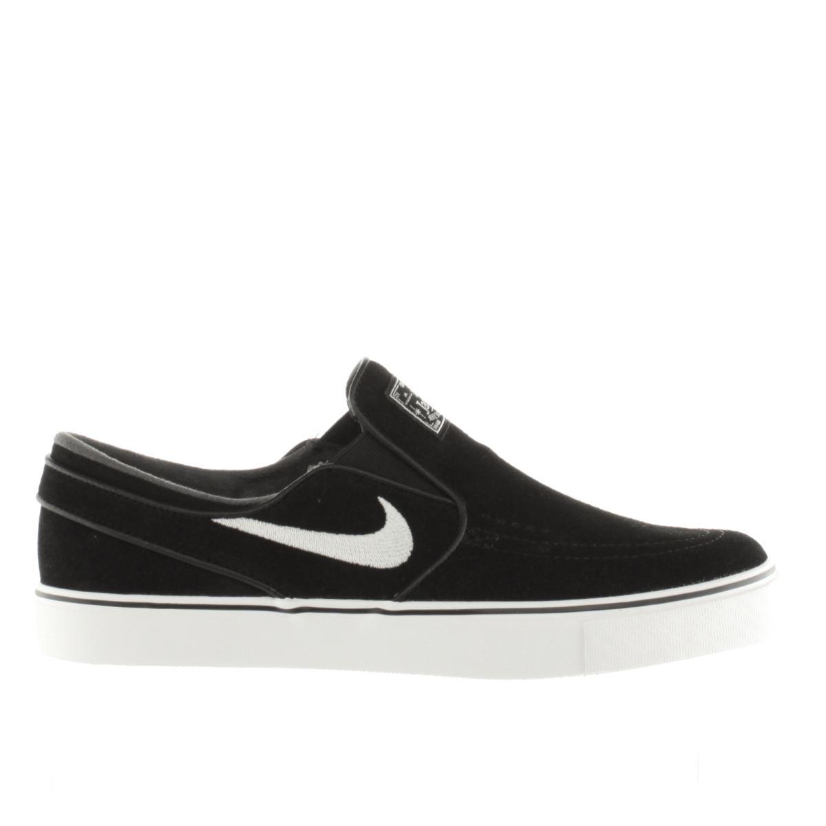 nike sb black & white zoom stefan janoski slip trainers