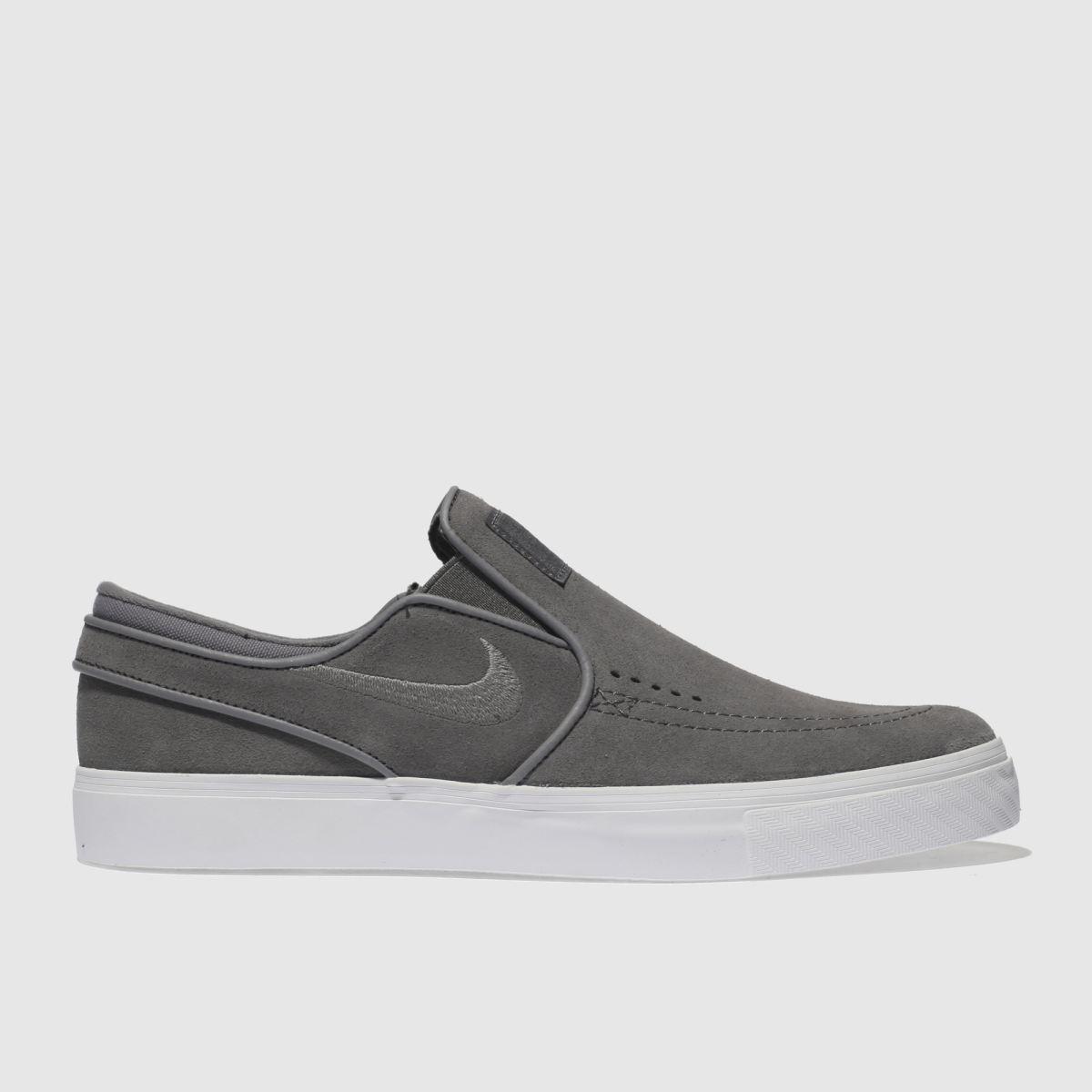 Nike Sb Grey Zoom Janoski Slip Trainers