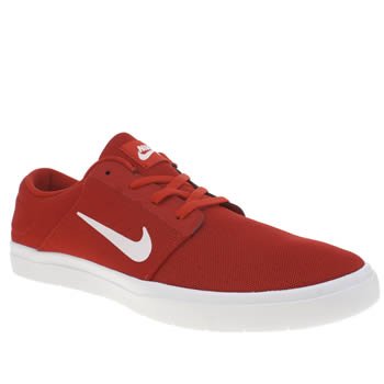Nike Sb Red Portmore Ultralight Trainers