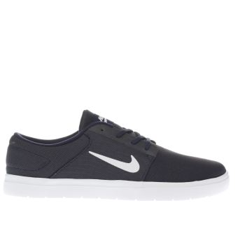Nike Sb Navy & White Portmore Ultralight Trainers