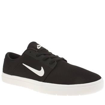 Nike Sb Black & White Portmore Ultralight Trainers