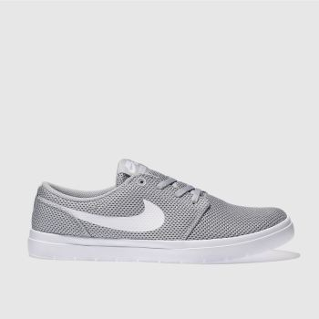 Nike Sb Grey Portmore Ultralight Mens Trainers