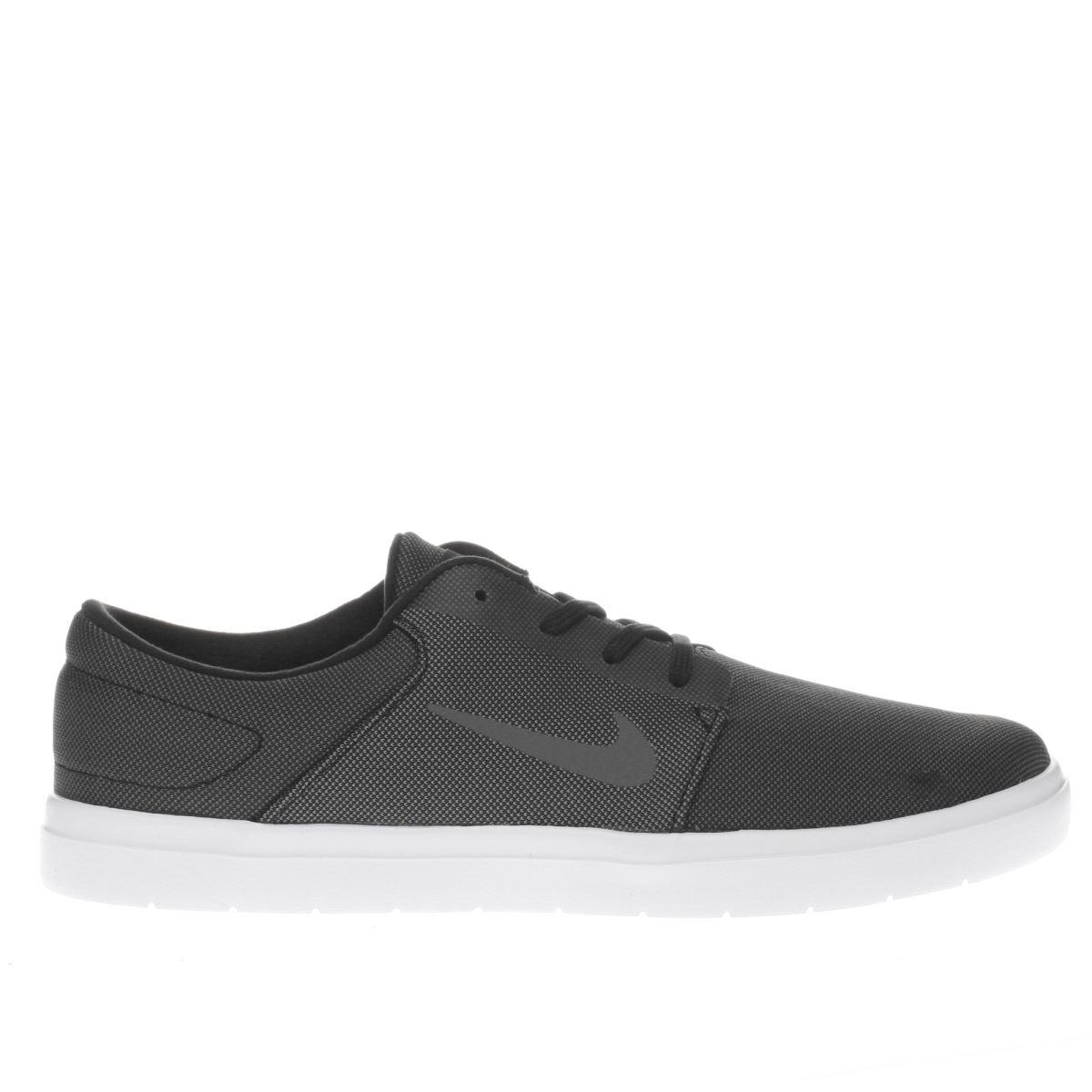 nike sb grey & black portmore ultralight trainers