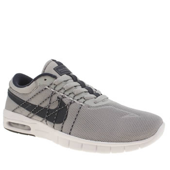 Mens Nike Sb Grey & Navy Koston Max Trainers