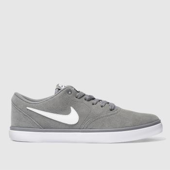 Nike Sb Light Grey Check Solar Trainers
