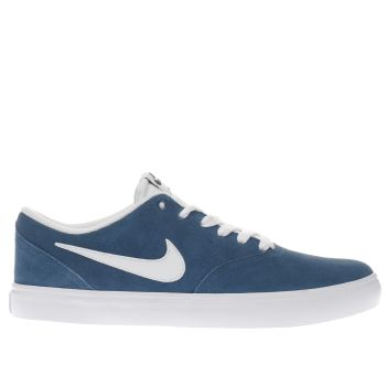 Nike Sb Blue Check Solarsoft Mens Trainers
