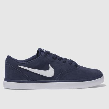 Nike Sb Navy Check Solarsoft Mens Trainers