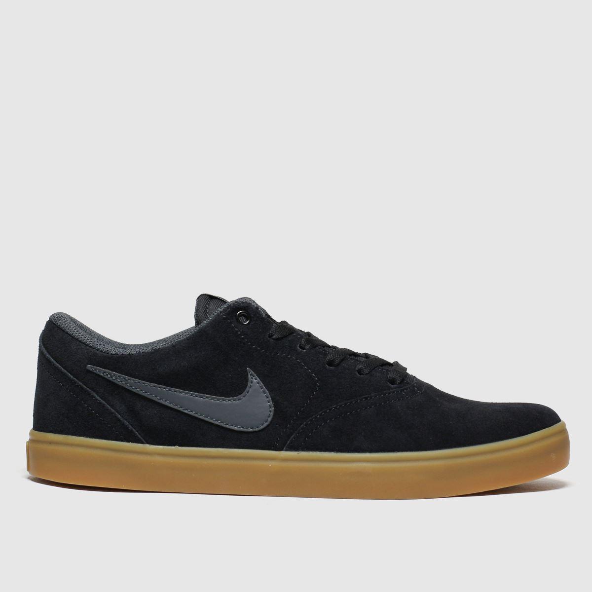Nike SB Nike Sb Black & Brown Check Solarsoft Trainers