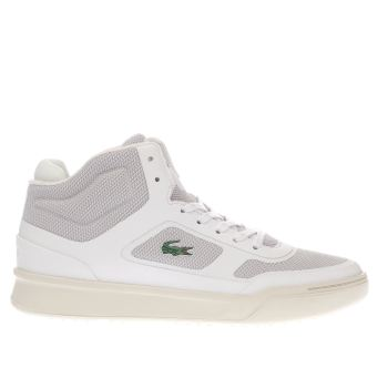 Lacoste White Explorateur Mid Trainers