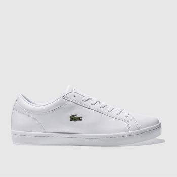 Lacoste White Straightset Mens Trainers