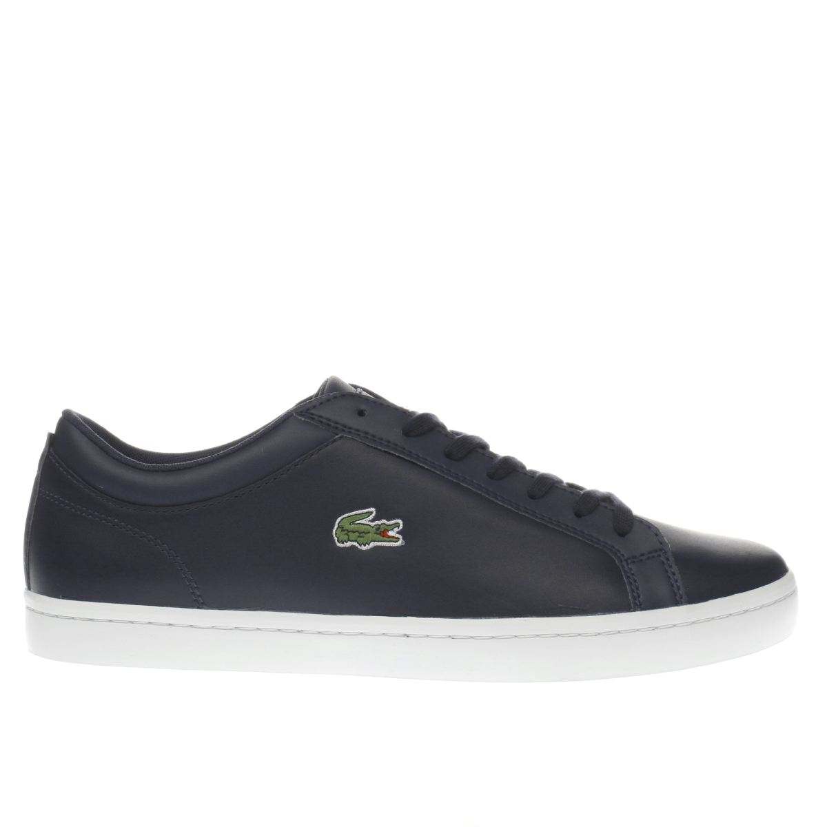 lacoste navy straightset bl 1 trainers