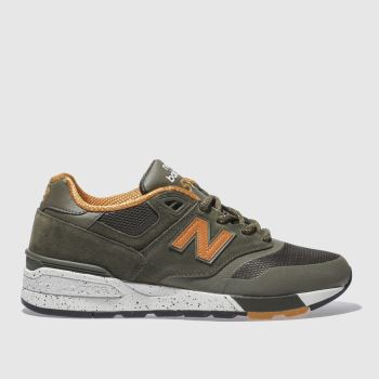 New Balance Khaki 597 Mens Trainers