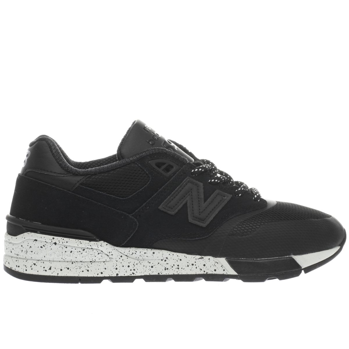 new balance black 597 trainers