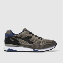 Diadora Stone & Black V7000 Weave Mens Trainers