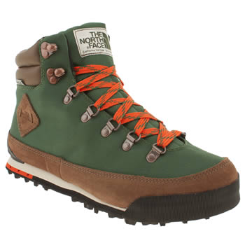mens the north face  dark green back to berkeley boot trainers