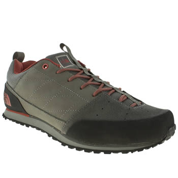 mens the north face  grey & black scend leather trainers