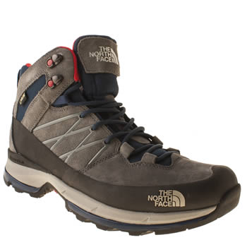 mens the north face  grey wreck mid trainers