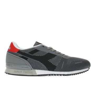 Diadora Grey Titan Weave Mens Trainers