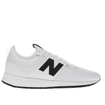 New Balance White & Black 247 Trainers