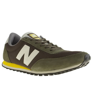 mens new balance dark green 410 trainers