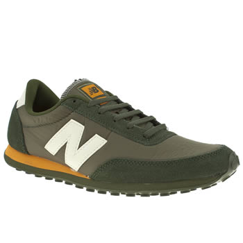 mens new balance khaki 410 trainers