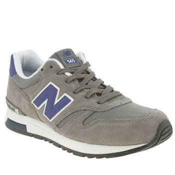 Mens New Balance Grey & Navy 565 Trainers
