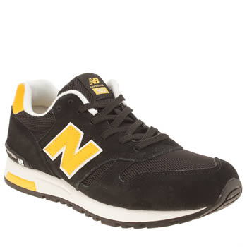 Mens New Balance Black & White 565 Trainers