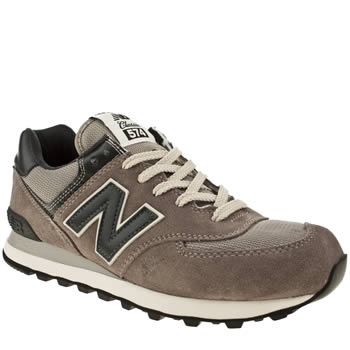 mens new balance grey & black 574 trainers