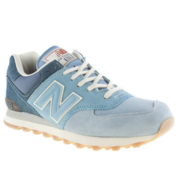mens new balance pale blue 574 nature trainers