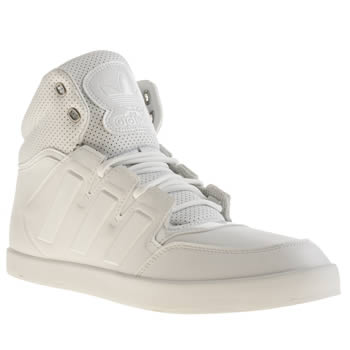 Mens Adidas White Dropstep Trainers