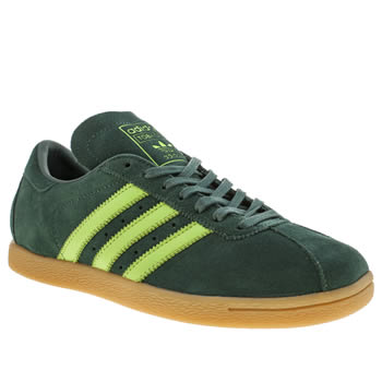 Mens Adidas Dark Green Tobacco Trainers