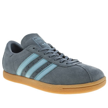 mens adidas blue tobacco trainers