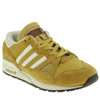 Mens Adidas Yellow Zx 710 Trainers