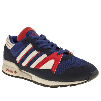 mens adidas blue zx 710 trainers