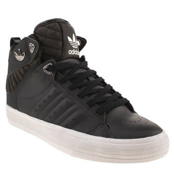 mens adidas navy & black freemont mid trainers