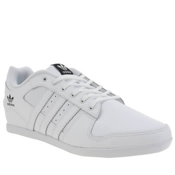 Adidas White Plimcana 2-0 Low Mens Trainers
