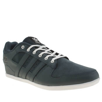 Mens Adidas Navy & White Plimcana 2.0 Low Trainers