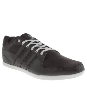 Mens Adidas Dark Brown Plimcana 2-0 Low Trainers