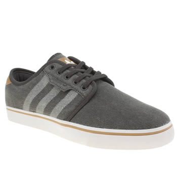 Mens Adidas Dark Grey Seeley Trainers