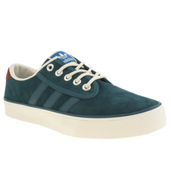 Mens Adidas Green Kiel Trainers